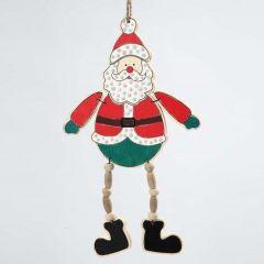 Ophæng med malet julemand af træ