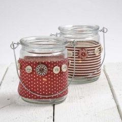 Lysglas med bælte i stof fra Vivi Gade Design