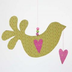 Fugl med hjerte i Helsinki designpapir