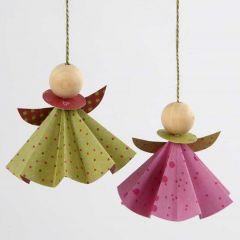 Engel i origamipapir fra Vivi Gade