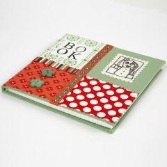 Kinabog med collage af økologisk bomuld på omslaget