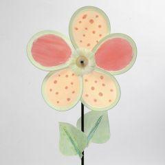 Dekoreret vindmølle af blomsterblade i nylon