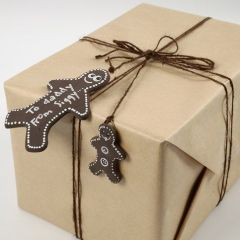 Kagemand af Silk Clay som gavemærke