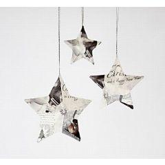 Stjerner med serviet-decoupage