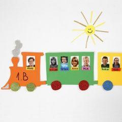 Fotopræsentation på lokomotiv af mosgummi