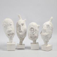 Portræt som skulptur af ballon med gipsgaze
