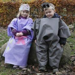 Udklædningsdragt til udendørsbrug, lavet af imiteret stof