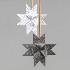 Splitring på flettet julestjerne af papir i design fra Vivi Gade