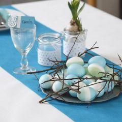 Ægte æg med indfarvning af silkemaling