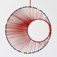 String art - uro af metalringe med garn
