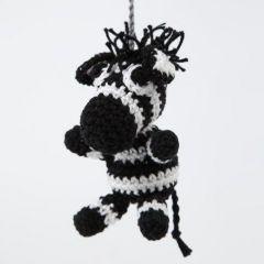 Hæklet zebra i bomuld