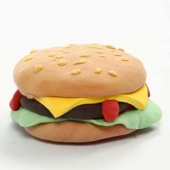 Magnet med burger af Silk Clay