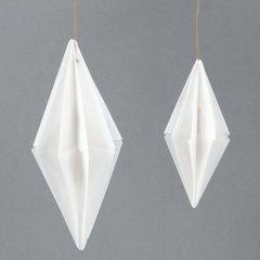 Papirdiamant af vellum origamipapir i design fra Vivi Gade