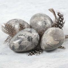 Æg a la marmor lavet af selvhærdende ler blandet med Idea mix