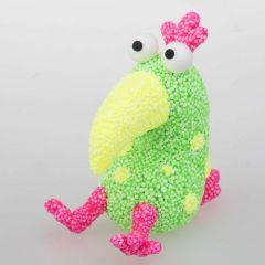 Modelleret papegøje af Foam Clay og Silk Clay