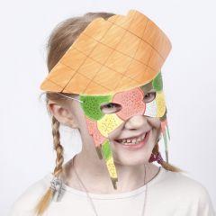 Tuschmalet maske af karton
