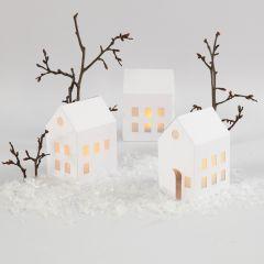 Hus af karton til LED-fyrfadslys