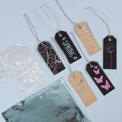 Manillamærker pyntet med design limark og dekorationsfolie
