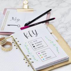 Key side til Bullet journal og planner