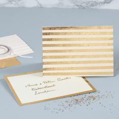 Perlemorskort pyntet med guldstriber af dekorationsfolie