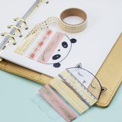 Masking tape holder af hårdfolie til bullet journal og planner