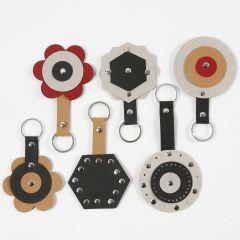 Nøglevedhæng af læderpapir