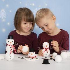 Byg en snemand af styropor og Foam Clay