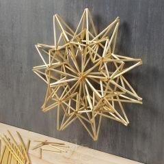 Stort stjerne ophæng af halmstrå