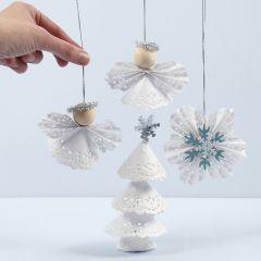 Julepynt af kageservietter