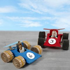 Racerbiler af paprør