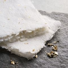 Håndlavet papir med guld og glitter