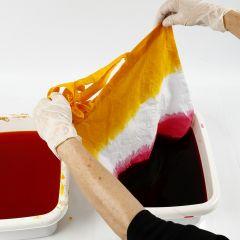 Sådan laver man batikteknik dip dye