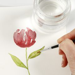 Sådan maler du akvarel med løfteteknik