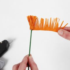 Sådan laver du støvdragere til papirblomster af crepepapir (frynse/-vikleteknik)