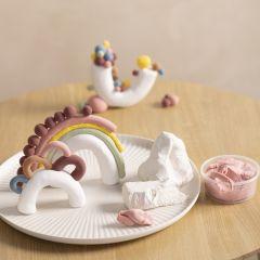 Skulpturer af mixet ler