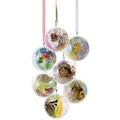 Smukke plastkugler med dekorativt fyld