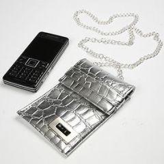 Hotte slangeskindstasker til mobilen