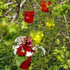 Lysglas i haven