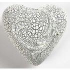 Krakelering på styropor hjerte
