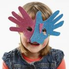 Maske i mosgummi efter hænder