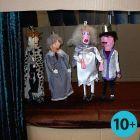 Marionetdukker af trælister og gipsgaze