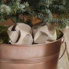 Click Ornament, beklædt med glitrende designpapir i kobber