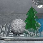 Hæklet julekugle af glimmergarn