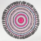 Lille tæppe vævet på rund væv