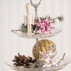 Flettet julestjerne med harlekintern eller trommer