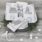 Adventsgaver pyntet med papirklip og pomponer