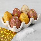 Æg dekoreret med akvarel og dekorationsfolie