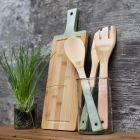Køkkenredskaber af bambus malet med Plus Color hobbymaling
