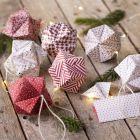 Origami julekugle foldet af origamipapir