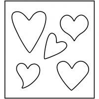Skæreskabelon, hjerte, str. 14x15,25 cm, tykkelse 15 mm, 1 stk.